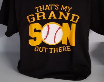 That's my grandson out there,baseball,softball,granddaughter, sports shirt