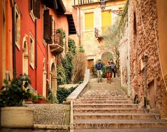 Italian Street Photo Print || Verona Italy || Photo Gift || Home Decoration || Color Photo || Italian Street Photography || Verona Photo