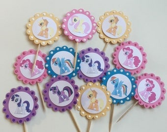 My Little Poney Cupcake Toppers