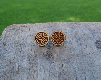 Celtic Swirl Timber Earrings