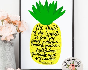 Fruits of the Spirit Print