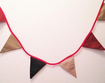 Garland of pennants Japanese motif cotton