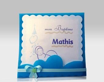 "Baptism announcements template ""Mathis"", custom"