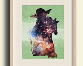 Star Wars Printable Art, Star Wars Printable Decor, Star Wars Instant Download, Star Wars Digital Print, Star Wars Yoda Art, Yoda Printable