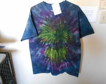 100% cotton Tie Dye T shirt MMXL19 Black Rainbow size XL