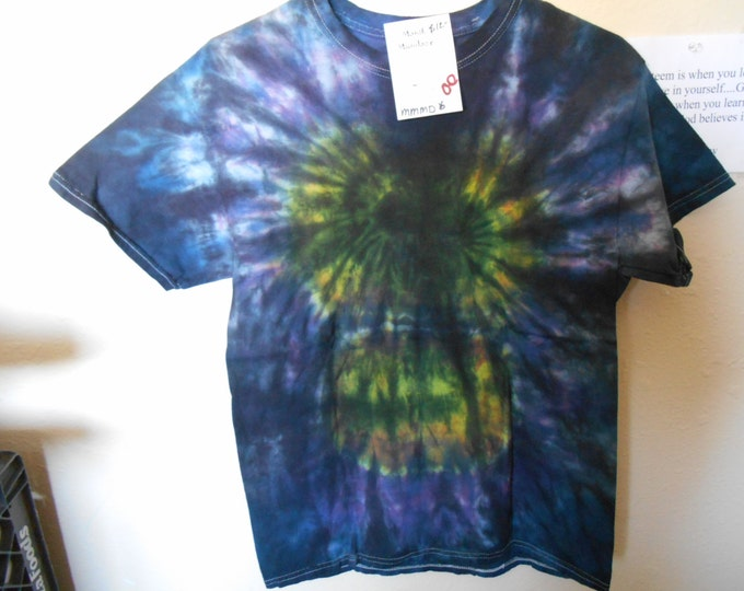 100% cotton Tie Dye T shirt Rainbow black MM2X2 size 2X