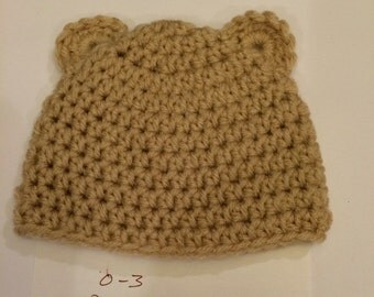 Crocheted Newborn Bear Hat