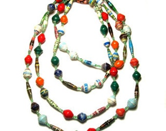 Recycle paper necklace