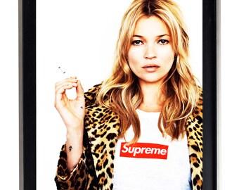 Supreme Kate Moss Street Urban Poster Print SKM1