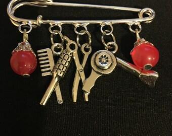 Beautician Stylist Pin (Brooch)   G5