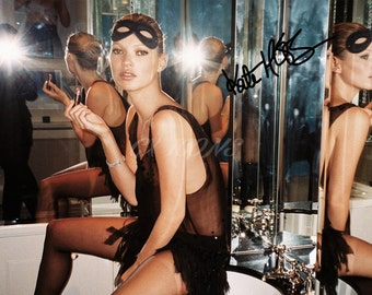 Kate Moss signed photo print - 12x8 inch - high quality -