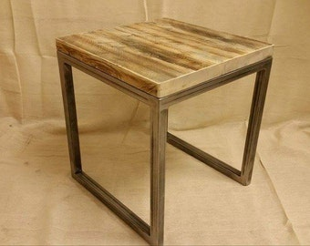 Industrial style side table