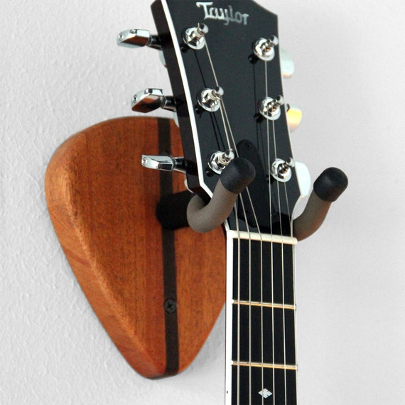 guitar wall hanger mahogany pick design. Black Bedroom Furniture Sets. Home Design Ideas