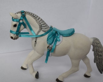 NEW STYLE 3 COLORS! English Riding Set for Schleich Horses