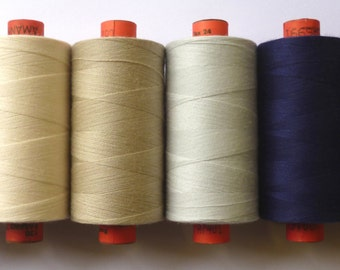 Rasant Sewing Thread VALUE PACK six reels basic colours 1000mtrs per reel