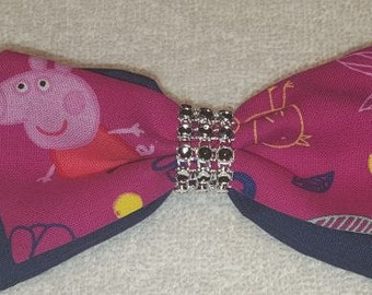 Peppa Pig Hair Bow Barrette