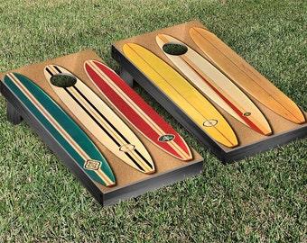 Old School Surfing Cornhole Game Set