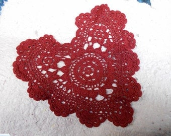 Crocheted Heart Doily