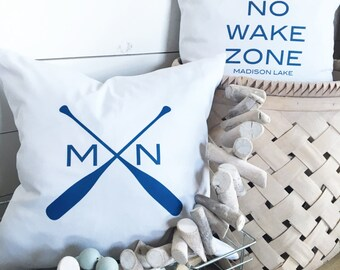 Personalized Lake Pillows set of two (2)