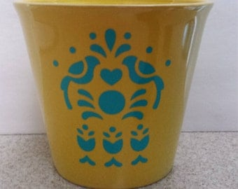 Bright Yellow Spring Flower Pot - Mother's Day