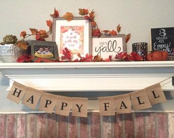 HAPPY FALL Banner | Fall Banner | Fall Sign | Fall Decor | Autumn Sign | Autumn Banner