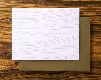 Arbor Woodgrain - Fun Letterpress Stationery Card