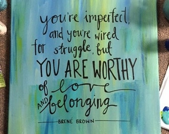 Brene Brown Quote Canvas
