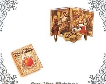 SNOW WHITE Dollhouse Miniature Book – 12th Scale Openable Antique Fairy Tale Snow White Miniature Book – Snow White Book Printable DOWNLOAD