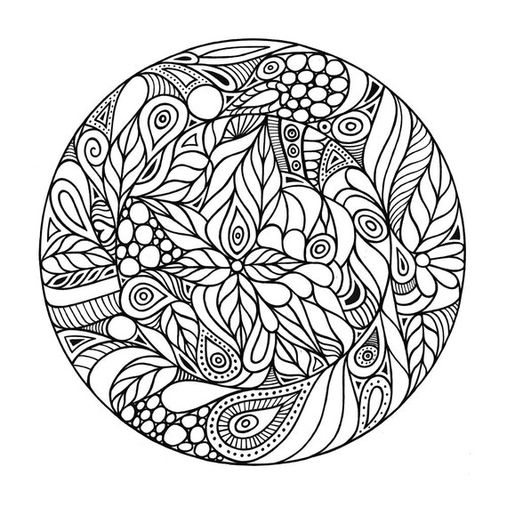 coloring pages adults circle - photo#3