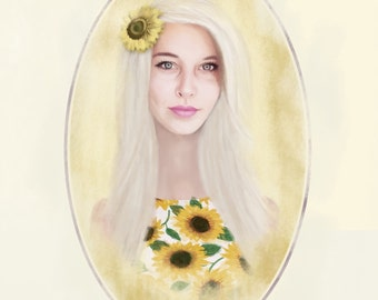 Custom Portrait from Photo Painting