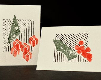 2 Handmade Christmas Cards