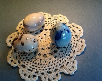 Ceramic Easter Egg Trio