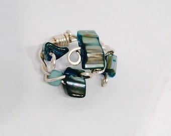 Blue rock ring