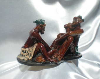"Ceramic sculpture ""the beginning of Life"" in Africa seen by MOUANGA"