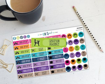 School Counselor Planner Stickers / Solid Brights / EAA06