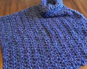 Crochet Poncho - soft and fluffy