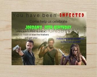 The Walking Dead Invitation