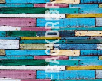 Photography Backdrop- Multicolored Wood