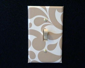 Fashion Switch and Outlet plate Mocha Tan Swirls