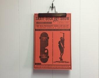 skate deck art show poster