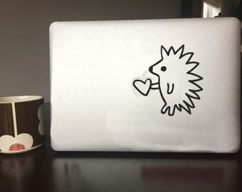 Computer Decal - Hedgehog - Vinyl decal for Mac and or PC Laptop