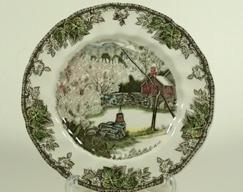 Vintage plates, Decorative plates, Johnson Brothers, Friendly Village, Vintage dinnerware, Collectibles, Homedecor, Made in England