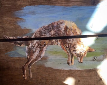 Made-to Order Custom Woodland Animal Paintings on Reclaimed Wood