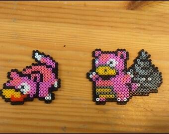 Pokémon Nidoqueen and evolution Pixel Art mini Hama beads