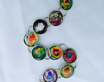 Hurricane Bracelet, Eye of the Storm Bracelet/hurricane satellite image/hurricane jewelry/coastal bracelet/beach bracelet/