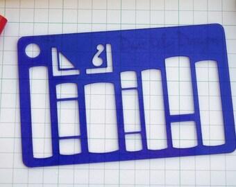 Literature, Planner Stencil, Bullet Journal Stencil - 043 (Credit Card Size Stencil)