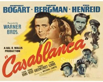 Vintage Casablanca Movie Poster Print