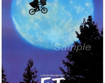 Vintage E.T Movie Poster Print