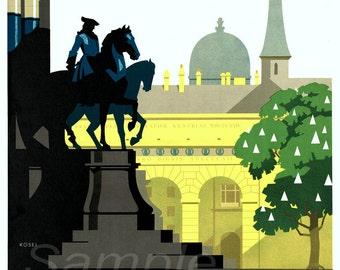 Vintage Austria Vienna Travel Poster Print