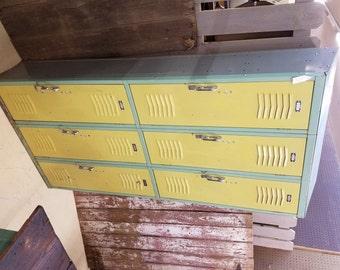 Vintage Industrial School Lockers